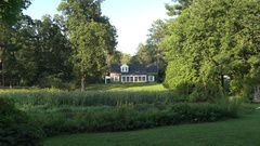 The Stone Cottage, Val-Kill, Eleanor Roosevelt Historic Site, Hyde Park, USA. Stock Footage