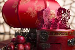 Chinese traditional items for Chinese New Year Stock Photos