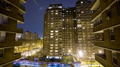 4K Timelapse Loop of NYC High Rise Apartment Building Stock Footage