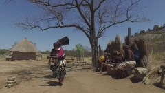 Traditional dance in african village 4k Stock Footage