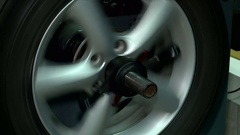 Preventive maintenance and repair of the car Stock Footage