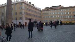 Piazza Montecitorio Rome Stock Footage