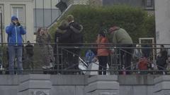 BRUSSELS, BELGIUM – Monts Des Arts, Kunstberg Stock Footage