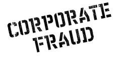 Corporate Fraud rubber stamp Stock Illustration
