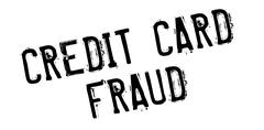 Credit Card Fraud rubber stamp Stock Illustration