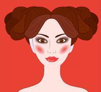 Aries beautiful girl Stock Illustration