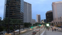 Traffic in front of Superdome in New Orleans Stock Footage