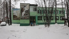Administration building of Kronotsky Nature Biosphere Reserve on Kamchatka Stock Footage