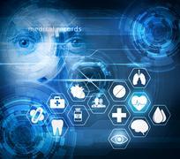 Medical care futuristic technology Kuvituskuvat