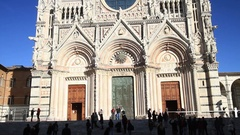 Medieval church Santa Maria Cathedral in Siena, Tuscany, Italy Stock Footage