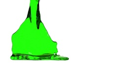 Green liquid fills container. Water surface waving. 3D render 13 Stock Footage