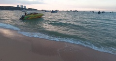 Pattaya Beach Dusk 05 Stock Footage