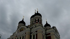 Alexander Nevsky Cathedral in Tallinn, Estonia Stock Footage