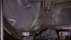 Maintenance of the train wheels Stock Footage