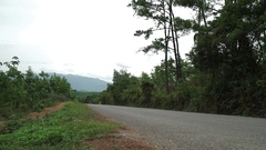 Motobikes in Vietnam countryside road, going Stock Footage