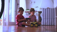 Kids playing with toys  Children playing Stock Footage