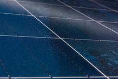 Solar Panel Blue Texture Close Detail Energy Renewable Device Installa Stock Photos