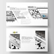 Business templates in HD size for presentation slides. Easy editable flat Stock Illustration