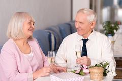 Grandparents celebrating anniversary Stock Photos