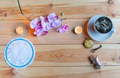 Morning Breakfast astrologer Stock Photos