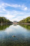 Lincoln Memorial Over Reflecting Pool National Mall Daytime Washington DC USA Stock Photos