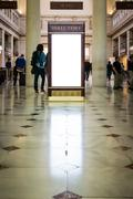 Blank White Isolated Directory Advertisement Union Station Washington DC Stock Photos