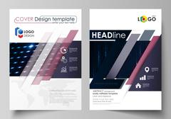 Business templates for brochure, magazine, flyer, booklet. Cover template Stock Illustration
