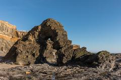 Ark rock formation (Pointe du Payre, France) Stock Photos