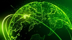4k Beautiful Green Earth Loop seamless Video for your background or intro Stock Footage