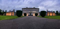 Arrival Panorama Front Exterior Castletown House Stock Photos