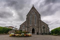 St  Patrick's Church Celbridge Ireland Dark Grey Dramatic Weather Kuvituskuvat