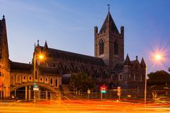 Afternoon Long Exposure Christ Church Light Streaks Dublin Ireland Cityscape Kuvituskuvat