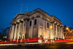City Hall Afternoon Long Exposure Light Streaks Architecture Dublin Ireland Kuvituskuvat