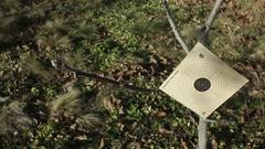 Target Shotgun Air Gun Practice Training Outdoors Daylight Stock Footage