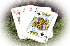 Playing cards Aces and Kings Stock Photos