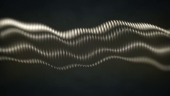 Dark Metallic Tube Loop Background Stock Footage