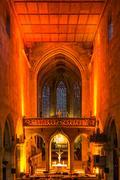 Esslingen Church Interior Christmas Concert December 2016 Lights Decoration.. Stock Photos