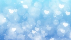 Blue Mothers Day Background with Particles, Sparkles and Hearts. Stock Footage