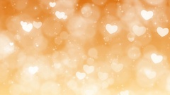 Gold Mothers Day Background with Particles, Sparkles and Hearts. Stock Footage