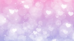 Purple Mothers Day Background with Particles, Sparkles and Hearts. Stock Footage