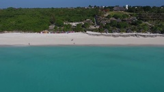 Zanzibar island from the height. Stock Footage