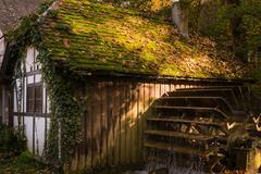 Half Timber House Cottage Village River Waterwheel Architecture Fairy Tale .. Kuvituskuvat