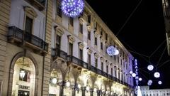 Torino via Roma Timelapse Stock Footage