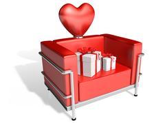 Valentine chocolate 3d art Stock Illustration