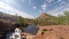 Beautiful Bell Gorge along Gibb River Road Stock Footage