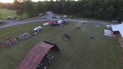 Extreme four wheeler jump ramp trick barhop aerial 4k Stock Footage