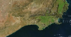 Aerial time lapse of widespread drought in South Africa  Stock Footage