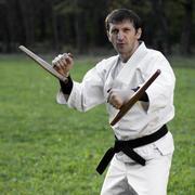 White ninja with tonfa Kuvituskuvat