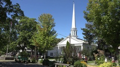 Woodstock Reformed Church, Ulster County, New York, United States. Stock Footage