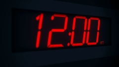 Blinking Twelve Oclock Digital Alarm - Power Outage Time Stock Footage